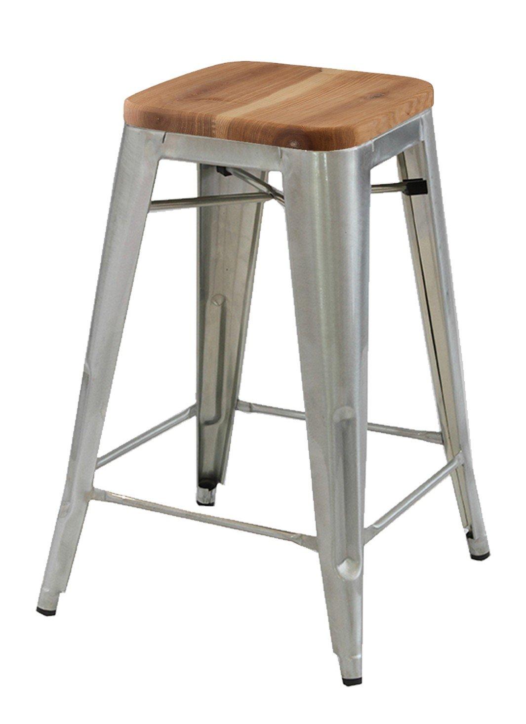 Replica Tolix Kitchen Stool With Timber Seat U3 Shop